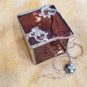 Stained glass/saudered tiny trinket / stash box